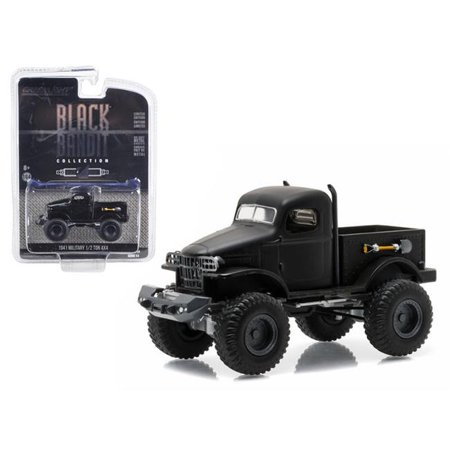 1 by 64 0.5 Ton 4 x 4 1941 Military Pick Up Truck Bandit Diecast Model, Black