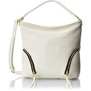 rian softy hobo shoulder bag, cream, one size