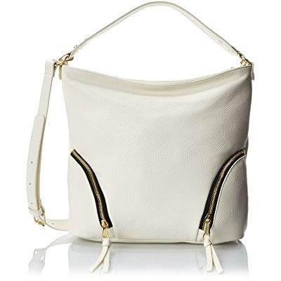 poverty flats by rian softy hobo shoulder bag, cream, one size