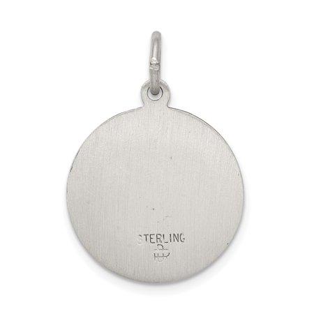Sterling Silver Antiqued Saint Mark Medal QC5738 (25mm x 20mm) - image 1 of 3