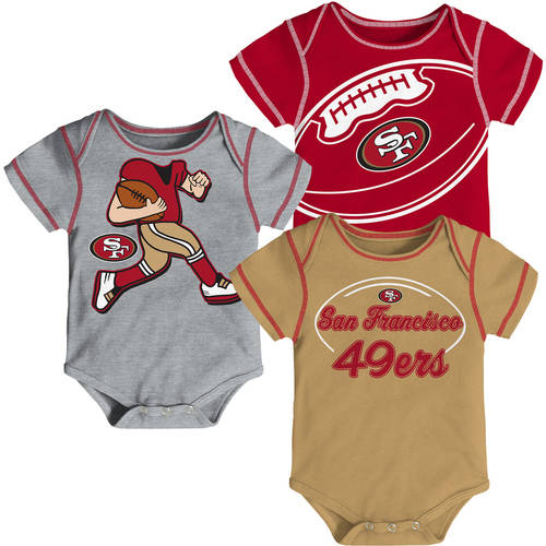Image of NFL, Team: 49ERS, NB/INF 3 Pack Creepers, Team Color/Grey/Alternate Team Color