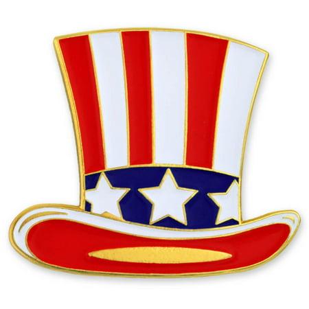 PinMart's Uncle Sam Hat Patriotic American Fourth of July Enamel Lapel - Patriotic Uncle Sam