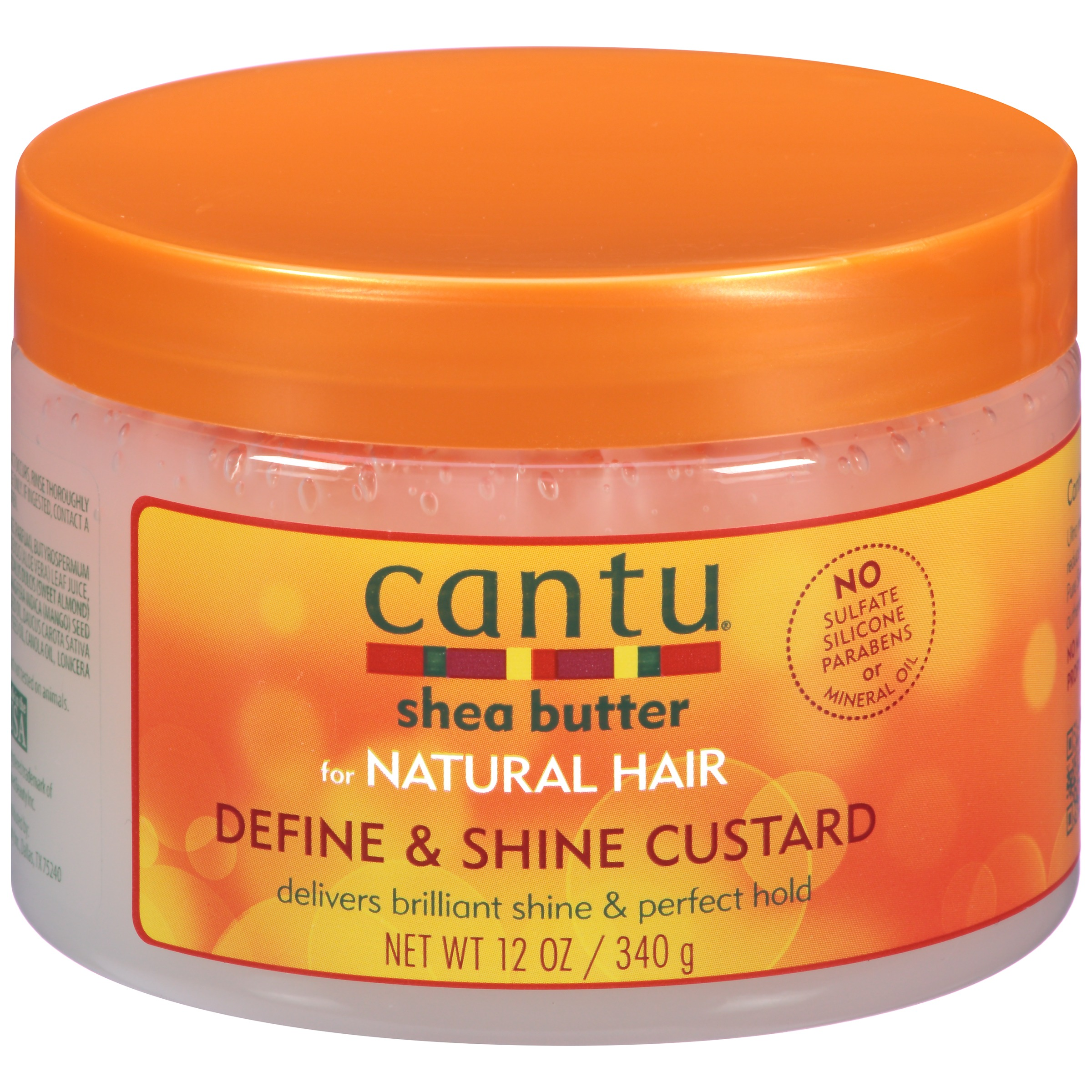 Cantu Shea Butter for Natural Define & Shine Custard,12 oz