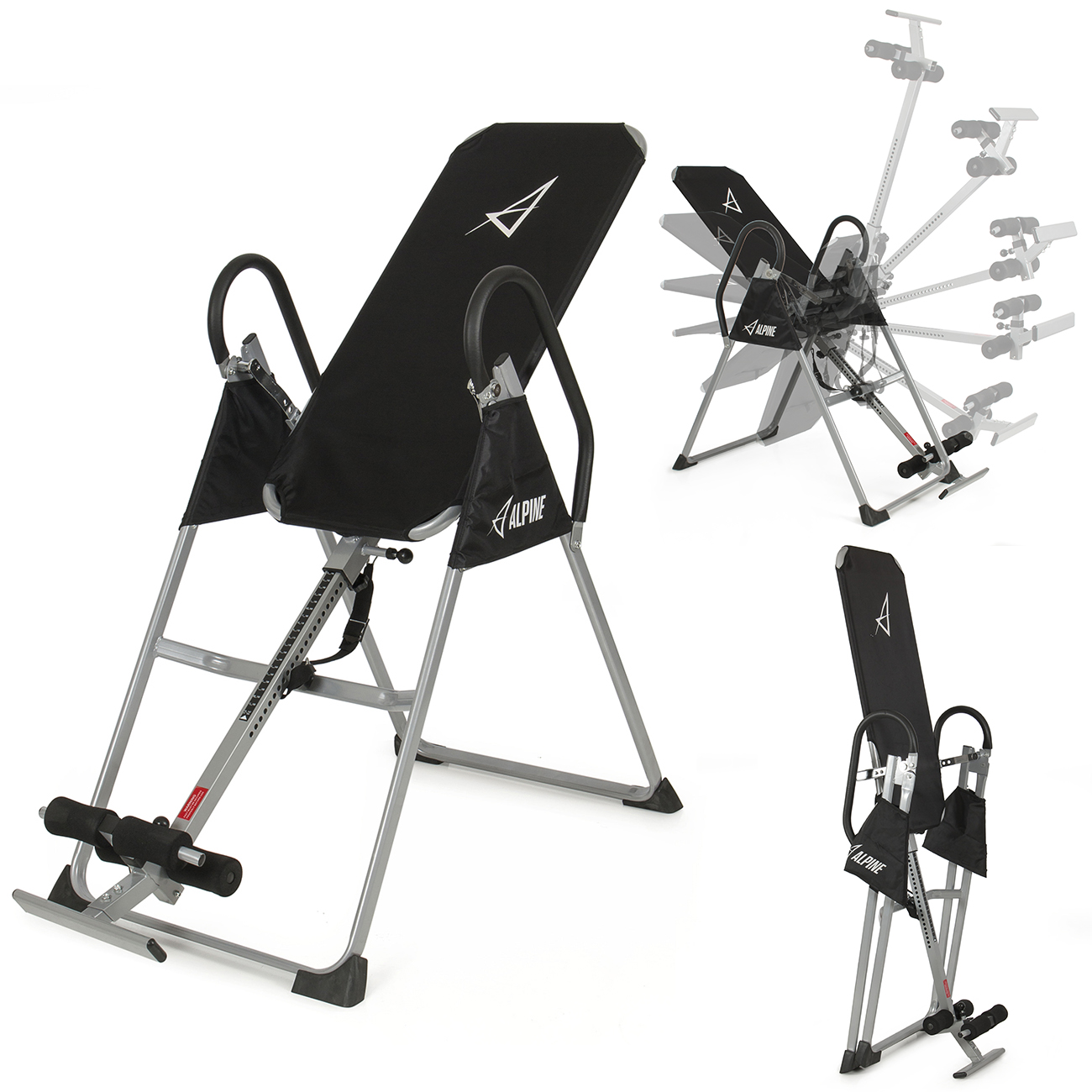 Akonza Inversion Table Deluxe Fitness Chiropractic Back Pain Relief  Exercise Gravity, (Black)   Walmart.com