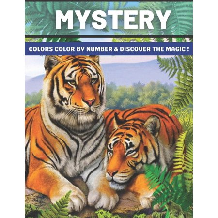 Mystery Colors Color by number & discover The Magic: Color by Number Coloring Book with Fun, Easy, and Relaxing Country Scenes, Animals, Mystery ... Magic Adult Color By Number Coloring Books (Paperba