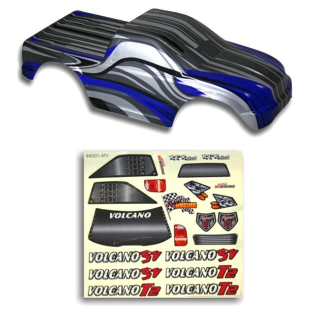 Redcat Racing 88021BB . 10 Truck Body Black and Blue