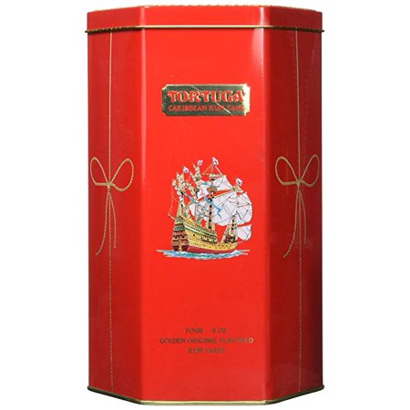 Tortuga Caribbean Golden Original Rum Cake Gift Pack 4oz 4 PACK Keepsake Tin