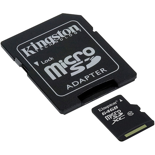 Kingston 64GB microSDXC Class 10 Flash Card