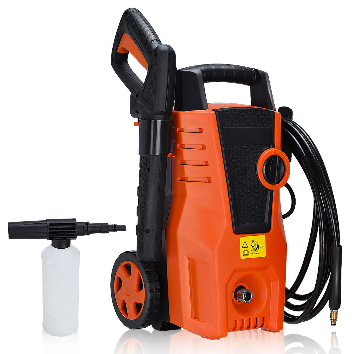 Costway 1400PSI Electric High Pressure Washer 2000W 1.6GPM Sprayer Cleaner Machine by Costway