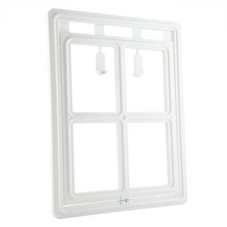 HERCHR Plastic Pet Dog Puppy Cat Door Magnetic Locking Safe Flap for Screen Window Gate, Cat Door for Screen Window, Cat -