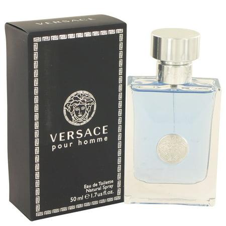 Versace Pour Homme Eau De Toilette Spray, Cologne for Men, 1.7 Oz