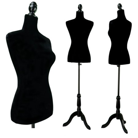 - Ktaxon Black Female Mannequin Torso Dress Form Display W/ Black Tripod Stand