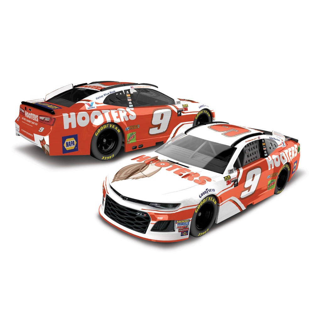 Chase Elliott Action Racing 2018 #9 Hooters 1:64 Regular Paint Die-Cast Chevrolet Camaro ZL1 - No Size