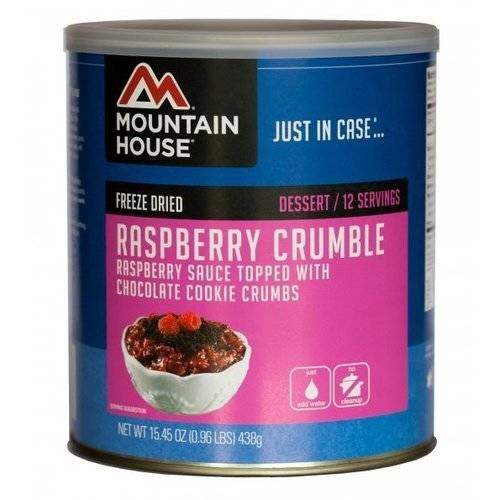 Mountain House Freeze Dried Raspberry Crumble Can