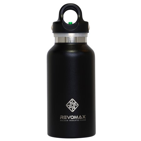 RevoMax Onyx Black 12 oz Classic Thermal Flask with Quick-Release (Thermal Flask)