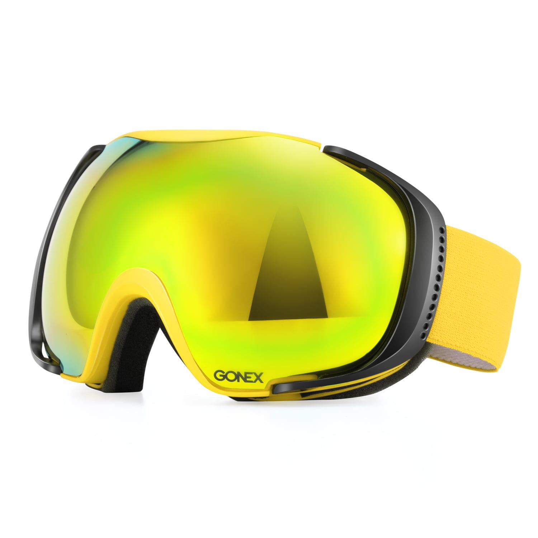 Gonex Polarized Ski Goggles Anti-fog Anti-glare Snow Goggle UV400 Protection with Oversized Double Spherical Lens