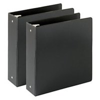 Economy Reference Binder, 3in. Rings, 460-Sheet Capacity, Black, Pack Of 2, Office Supplies By Just Basics From USA