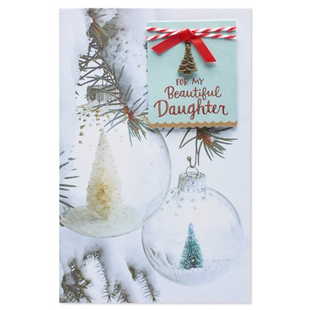 American greetings ornaments christmas card for daughter with american greetings ornaments christmas card for daughter with glitter m4hsunfo