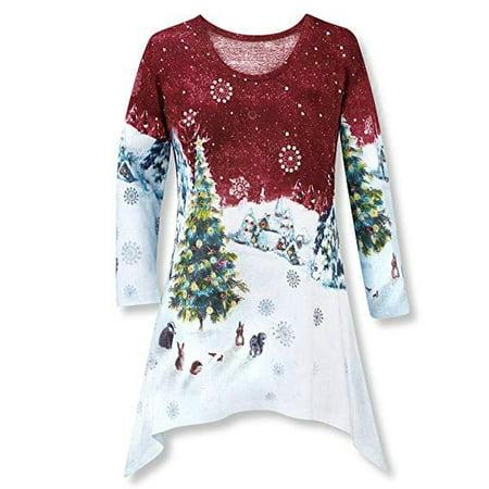 Women Fashion Christmas Shirt Tunic Blouse ()