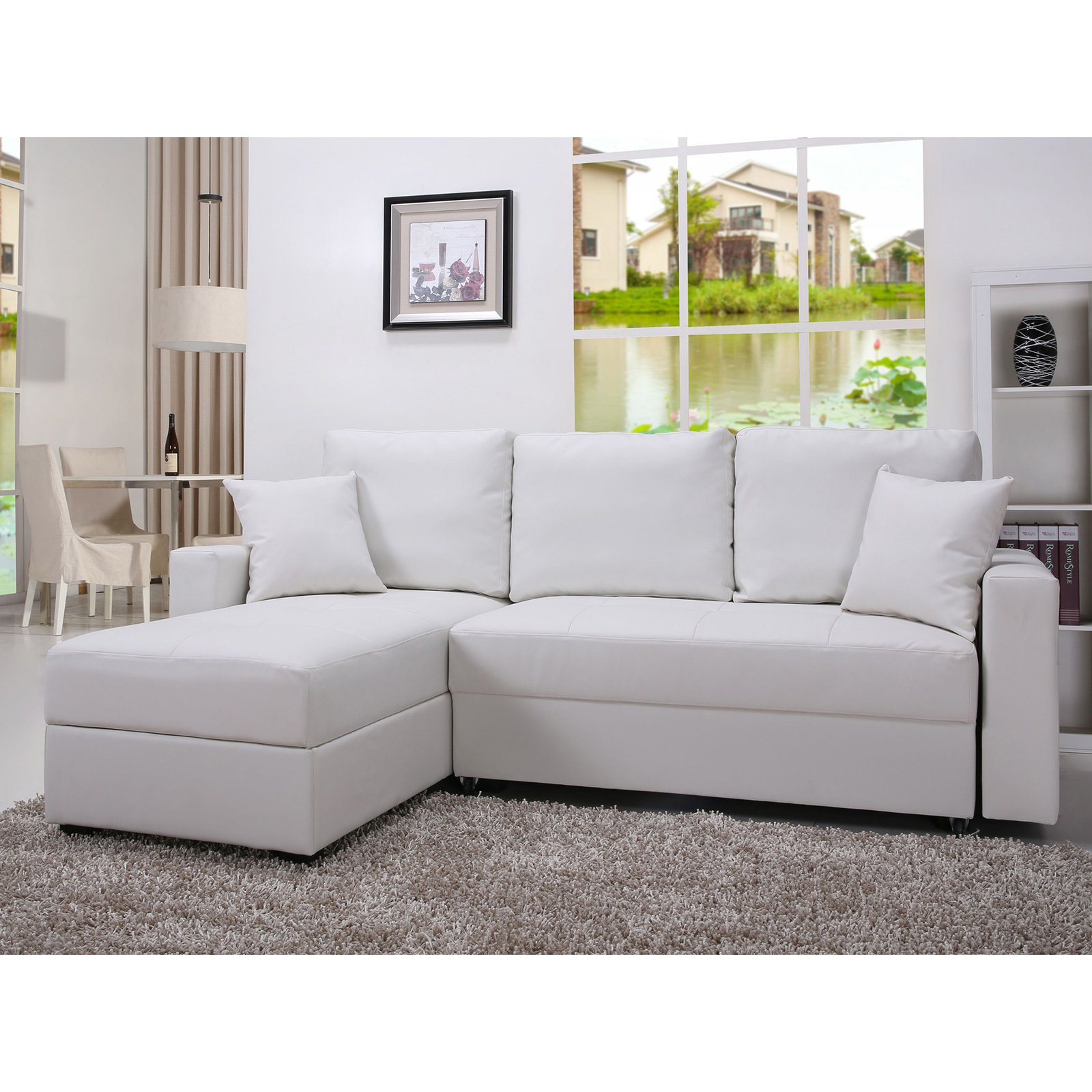 Gold Sparrow Aspen Convertible Storage Sectional Sofa