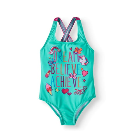 d6b13bac96 JoJo Siwa - JoJo Siwa Girls  1 Piece Swimsuit - Walmart.com