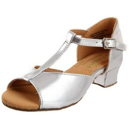 Silver Marvelous Ballroom Dance Shoes Girls 11-7 M