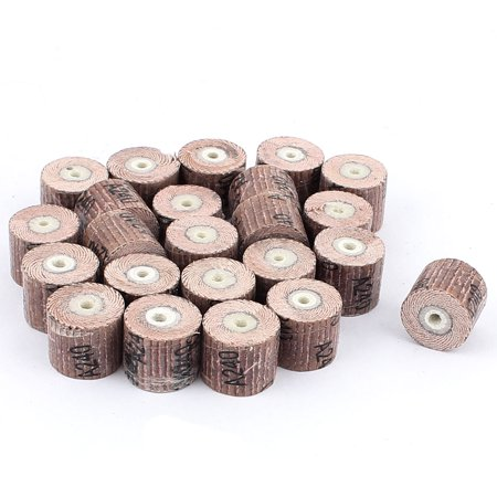Unique Bargains 23 Pieces 240 Grit 17x14x3mm Emery Cloth Grinding Unmounted Flap Wheel Brush