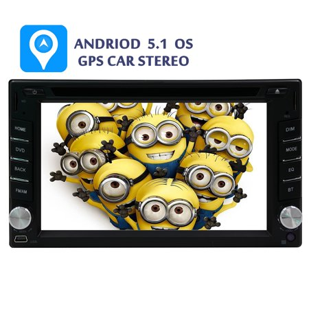 Android 5.1 Capacitive Touchscreen GPS Navi Map In Deck Car Stereo Automotive Radio Universal 2 Din BT Music Monitor Video Autoradio Car DVD Player RDS Audio 7 Inch EQ Steering Wheel control