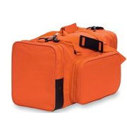 "Sassi Designs Orange Polyester With Detachable Front Pocket Duffel Team Bag 22"""