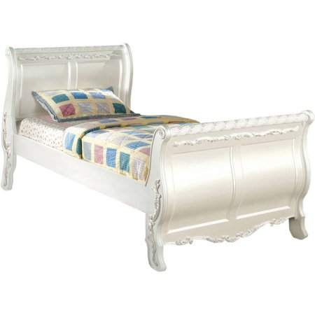 Furniture Of America Traditional Full Bed Pearl White
