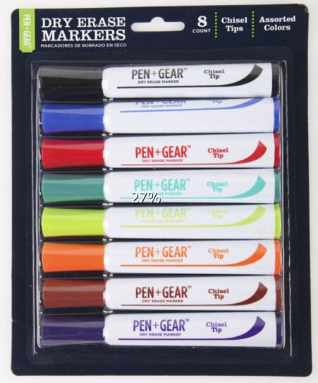 Xtreme Bold Jumbo Two Color Dry Erase Marker Green and Blue