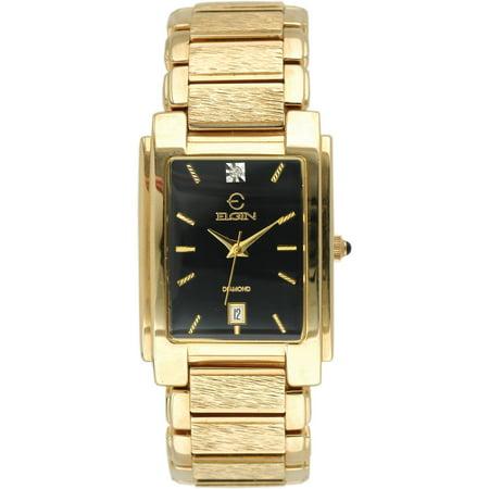 Diamond Men's/Unisex FG066N All Gold Tone Black Dial