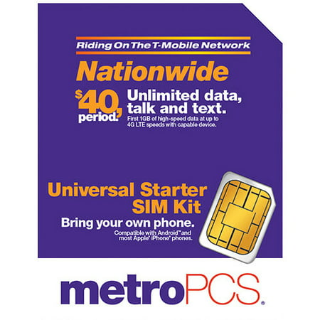 Metro PCS BYOD nanoSIM with Adapter Kit