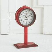 Mercana  Attalack I Red Metal Clock