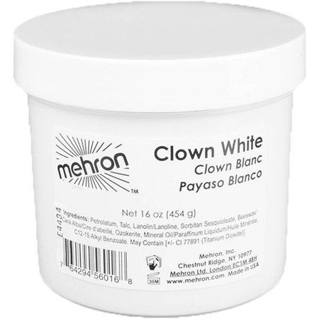 Clown White 16-Ounce Adult Halloween - Movie Park Halloween Clown
