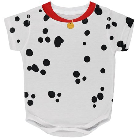 Halloween Dog Dalmatian Costume Red Collar All Over Baby One Piece
