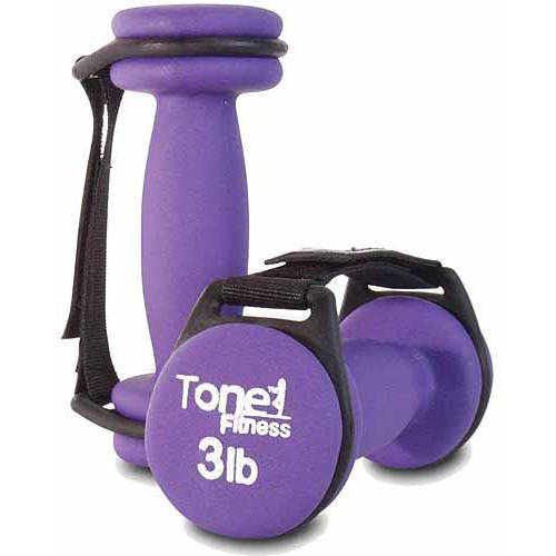 Tone Fitness 6 lb Walking Dumbbells, Set of 2