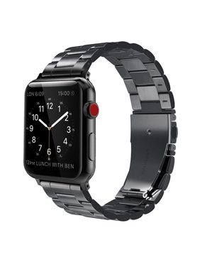 Fintie Watch Band for Apple Watch Series 5/4/3/2/1 (40/42mm) - Stainless Steel Metal Replacement Wrist Strap, Black