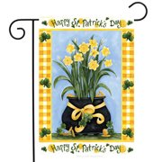 """Happy St. Patrick's Day Garden Flag Pot of Gold Daffodils 12.5"""" x 18"""""""