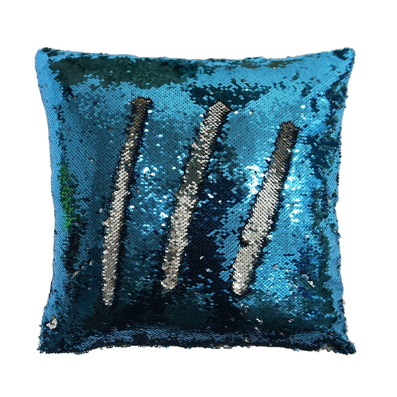 "Popeven 16""x16"" Magic Reversible Mermaid Sequin Pillow Case Glitter Throw... by DreamstrueLLC"