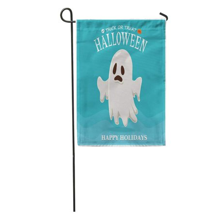 Halloween Cartoon Characters (SIDONKU Caricature Vintage Halloween Ghost Character Cartoon Children Comic Costume Creepy Garden Flag Decorative Flag House Banner 12x18)