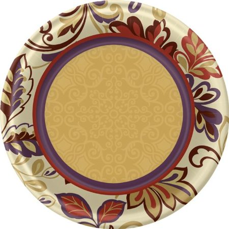 Thanksgiving Dessert Plates - Autumn Theme Cake Plates - 8 Coun - Thanksgiving Theme