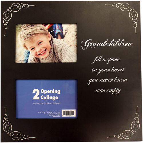 4-Way 2-Opening Brown Plaque with Grandkids Sentiment by Generic