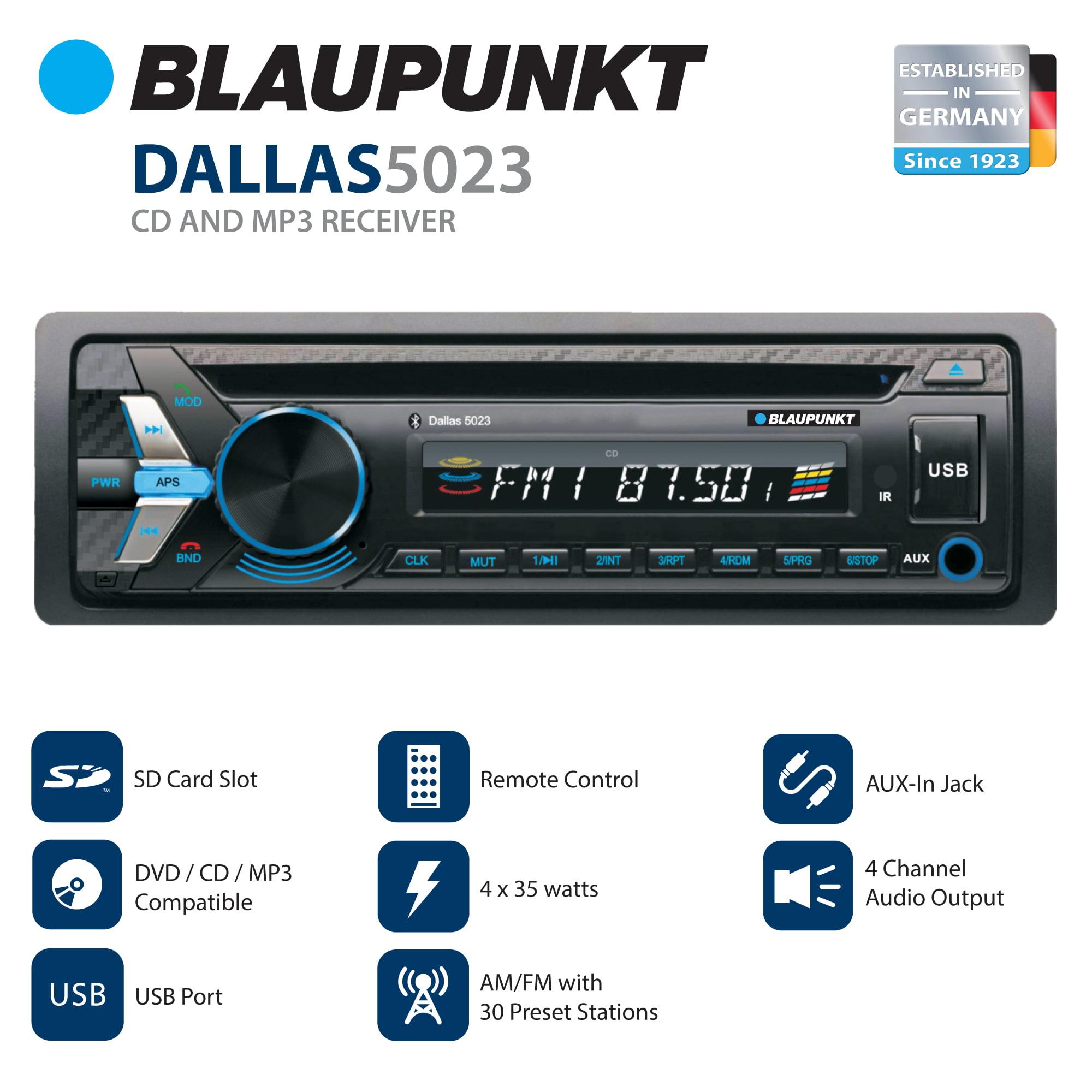 Blaupunkt Single Din Car Stereo CD and MP3 Receiver (DALLAS5023)