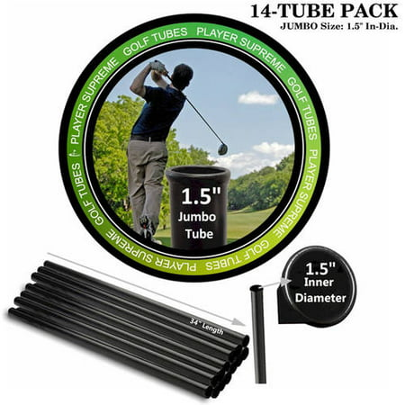Player Supreme Golf Tubes/Dividers, 14-Pack, JUMBO, 1 1/2