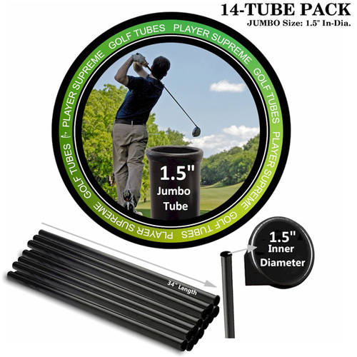 "Player Supreme Golf Tubes/Dividers, 14-Pack, JUMBO, 1 1/2"" Dia."