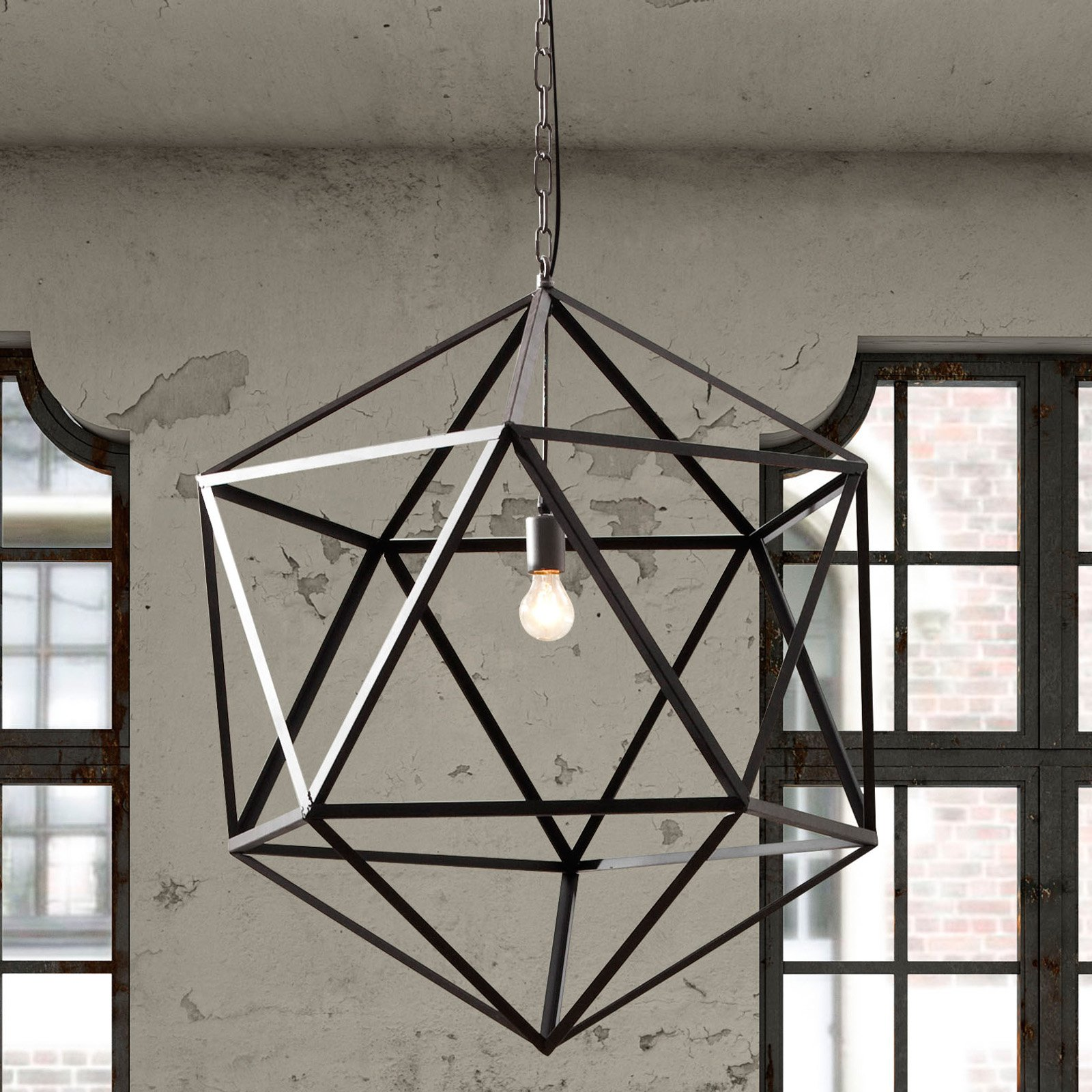 Zuo Modern Amethyst Ceiling Lamp - Small - Rust