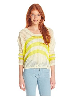 1502eb667c Product Image Roxy Junior's Rocky Point Stripe Crew Neck Sweater, Warm  White, Small