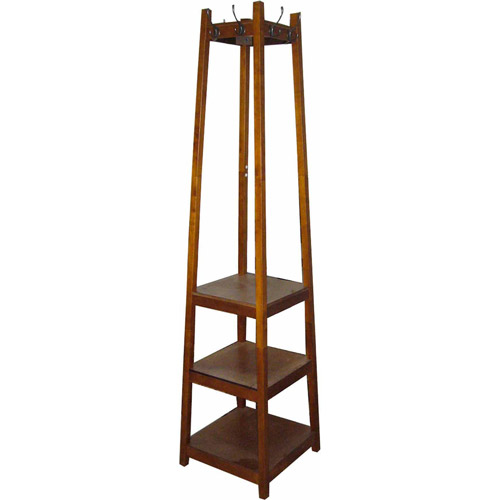 3-Tier Tower Shoe/Coat Rack, White