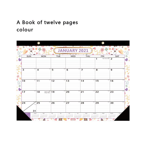 2021 Montly Calendar TureClos 2021 Desk English Calendar Montly Date Note Wall Hanging